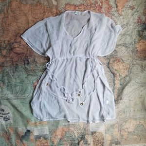 Mud pie white cover up
